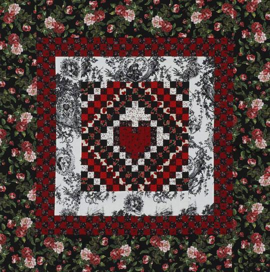 Checkerboard Heart Wall Quilt