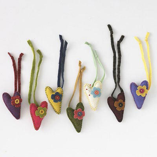 Tie-On Heart Pincushions