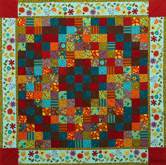 Blooming 16-Patch Throw