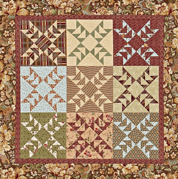 Quilts Made of Civil War Reproduction Fabrics