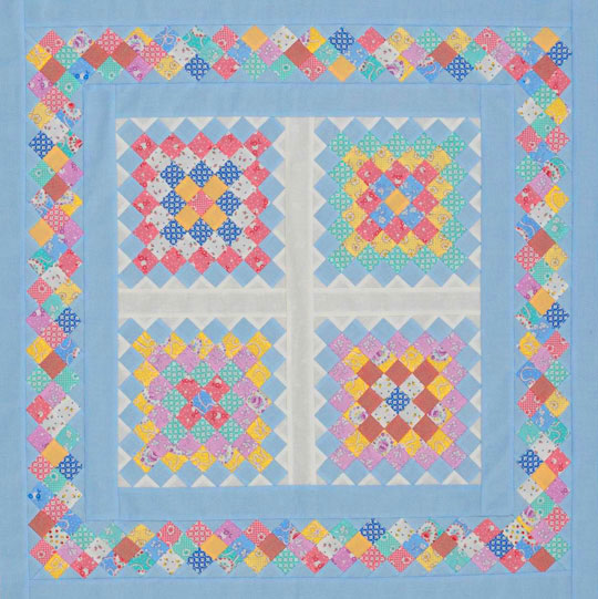 Scrappy Strip-Pieced Squares