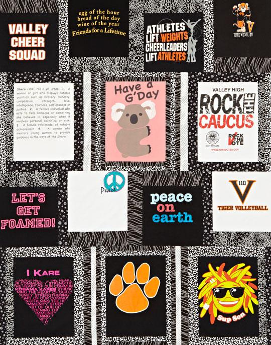 Black-and-White T-Shirt Quilt