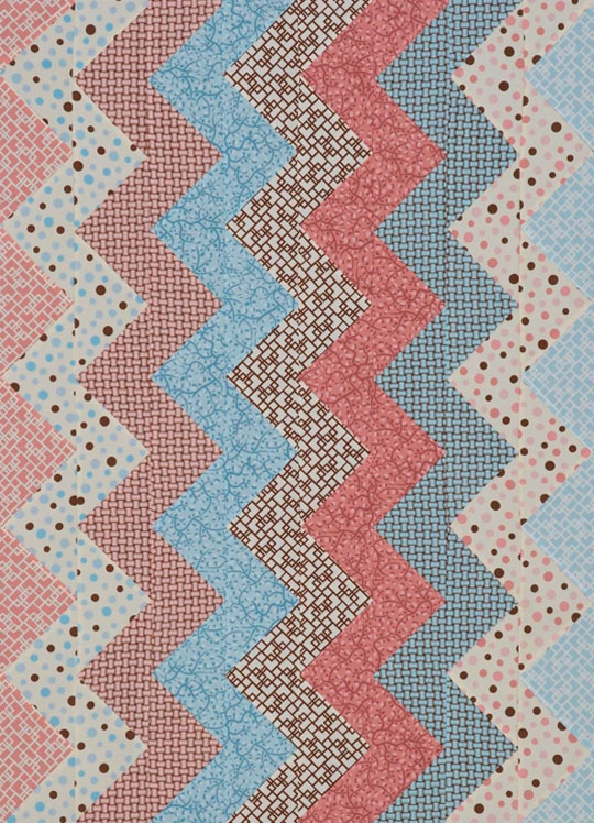 Zigzag Flannel Baby Quilt