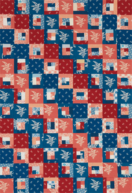 Courthouse Steps Crib Quilt