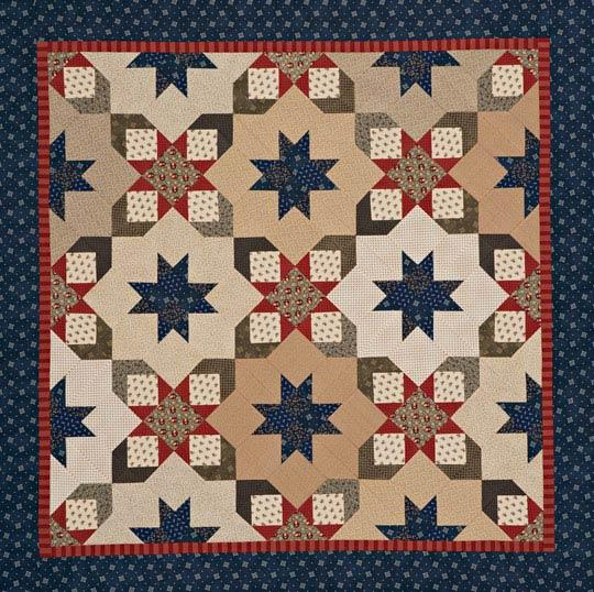 Starry Square-in-a-Square Quilt