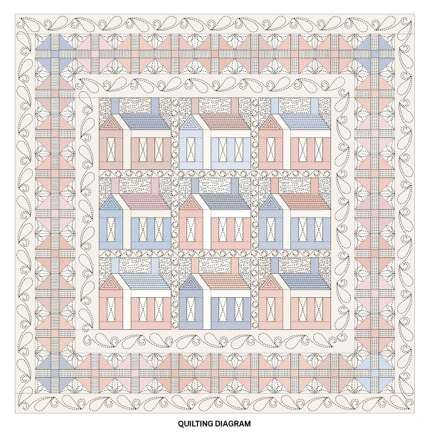 Americana Home Quilting Diagram