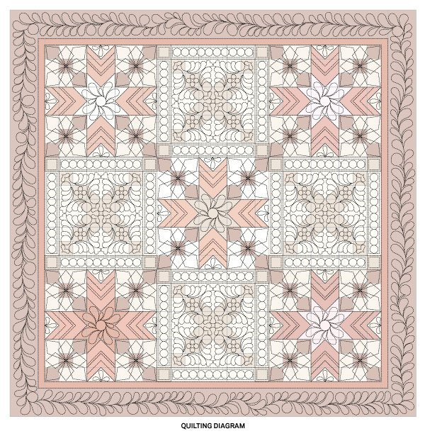 Stunning Star-Crossed Quilt Quilting Diagram
