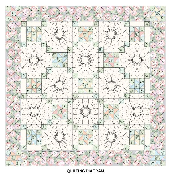 Flower Power Quilting Diagram