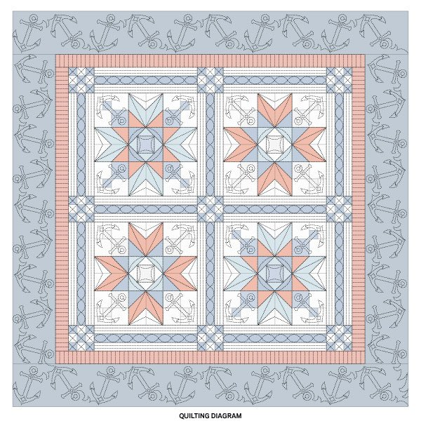 Nautical Stars Quilting Diagram
