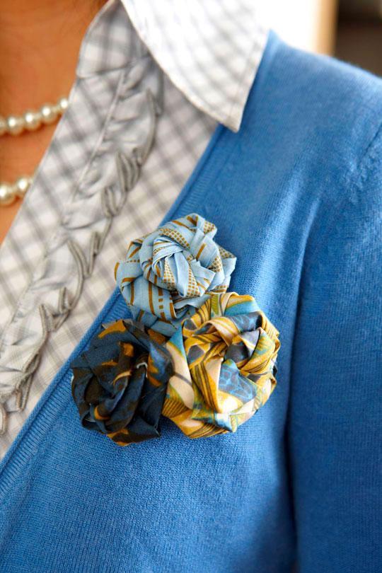 Fabric Rosette Embellishments
