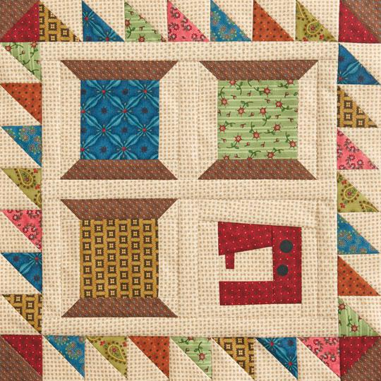 Sewing Spools Wall Quilt