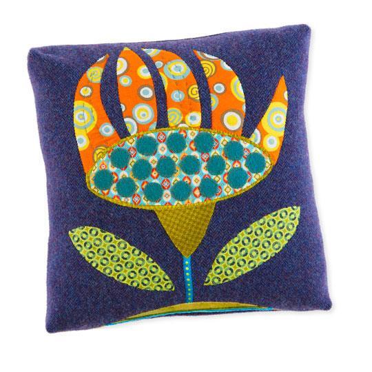 Wool Flower Pillow
