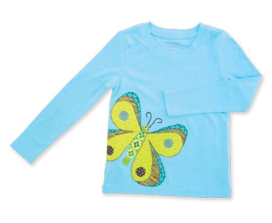 Butterfly Appliqué T-shirt