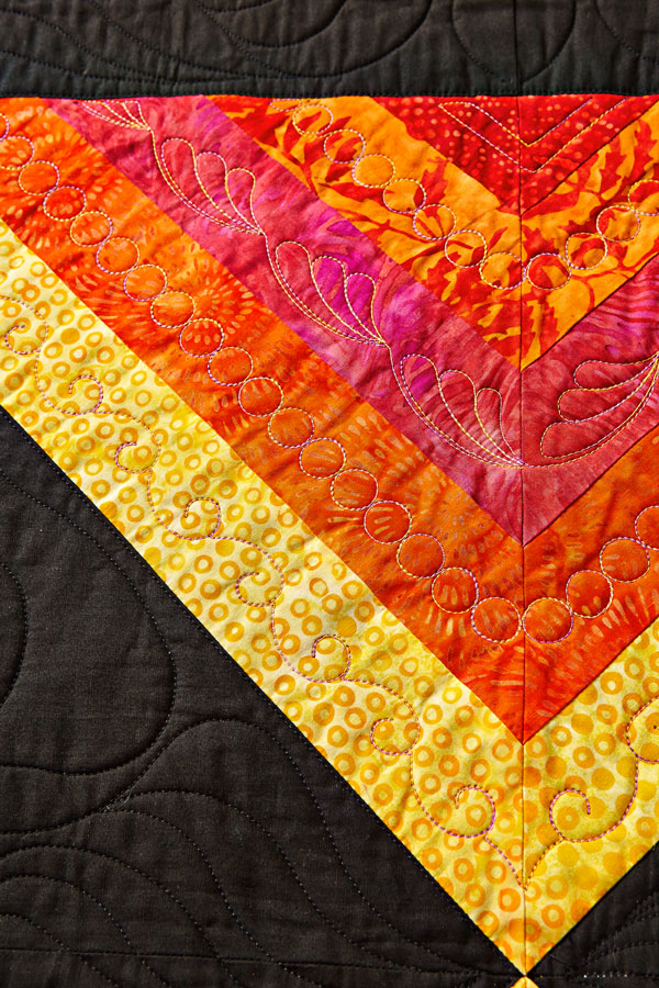 Slices of Sun Machine-Quilting Detail