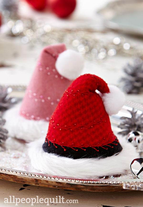 Santa Hat Pincushions