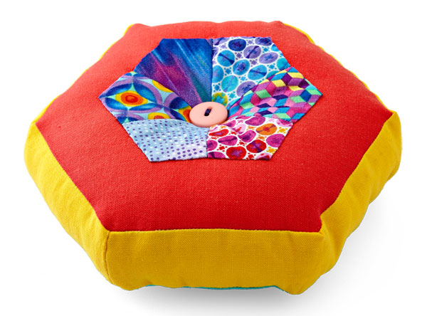 Hexagon Pincushion Color Option 2