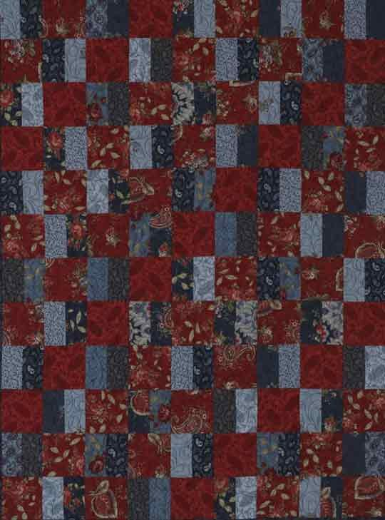 Top Wall Quilt: Paisley Squares & Bars