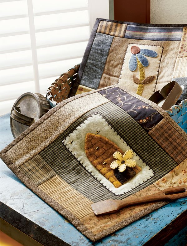 Top Wool Pattern: Folk Art Quilts