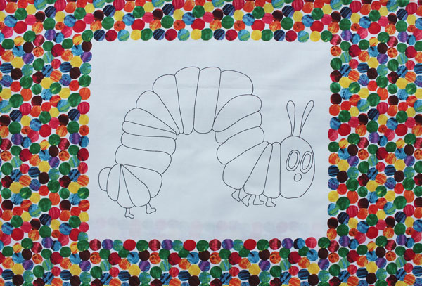 The Very Hungry Caterpillar Coloring Panel