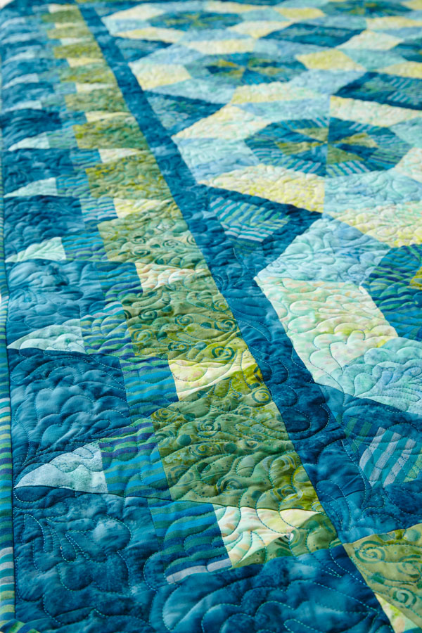 Tide Pools Machine-Quilting Detail