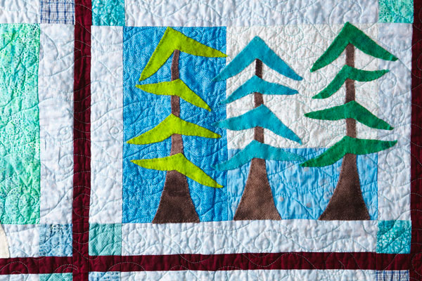 Chillin' in the Woods Machine-Quilting Detail