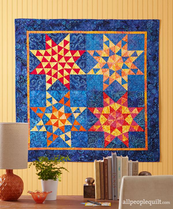 Batik Triangle Stars