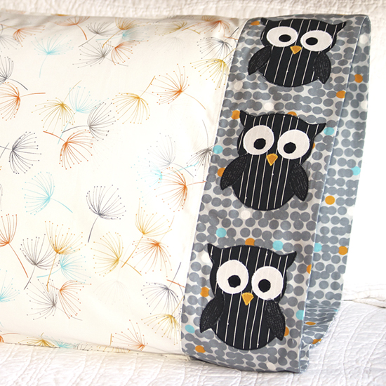 Moda - Pillowcase 67 Owl Appliqué