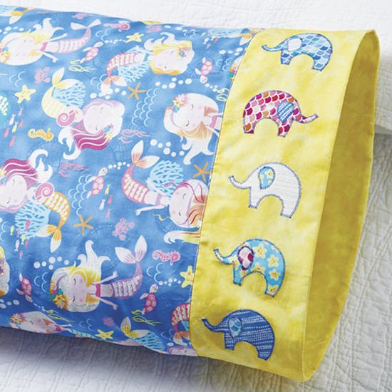 Northcott - Pillowcase 75: Elephant Band