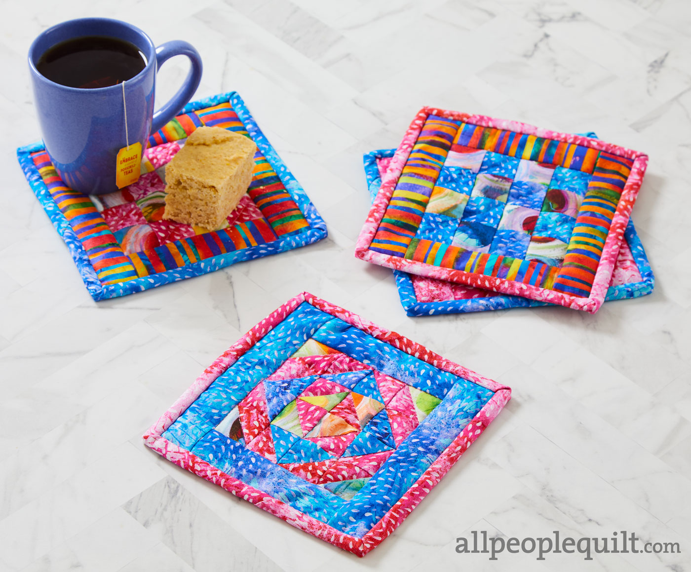 Colorful Mug Rugs Allpeoplequilt Com