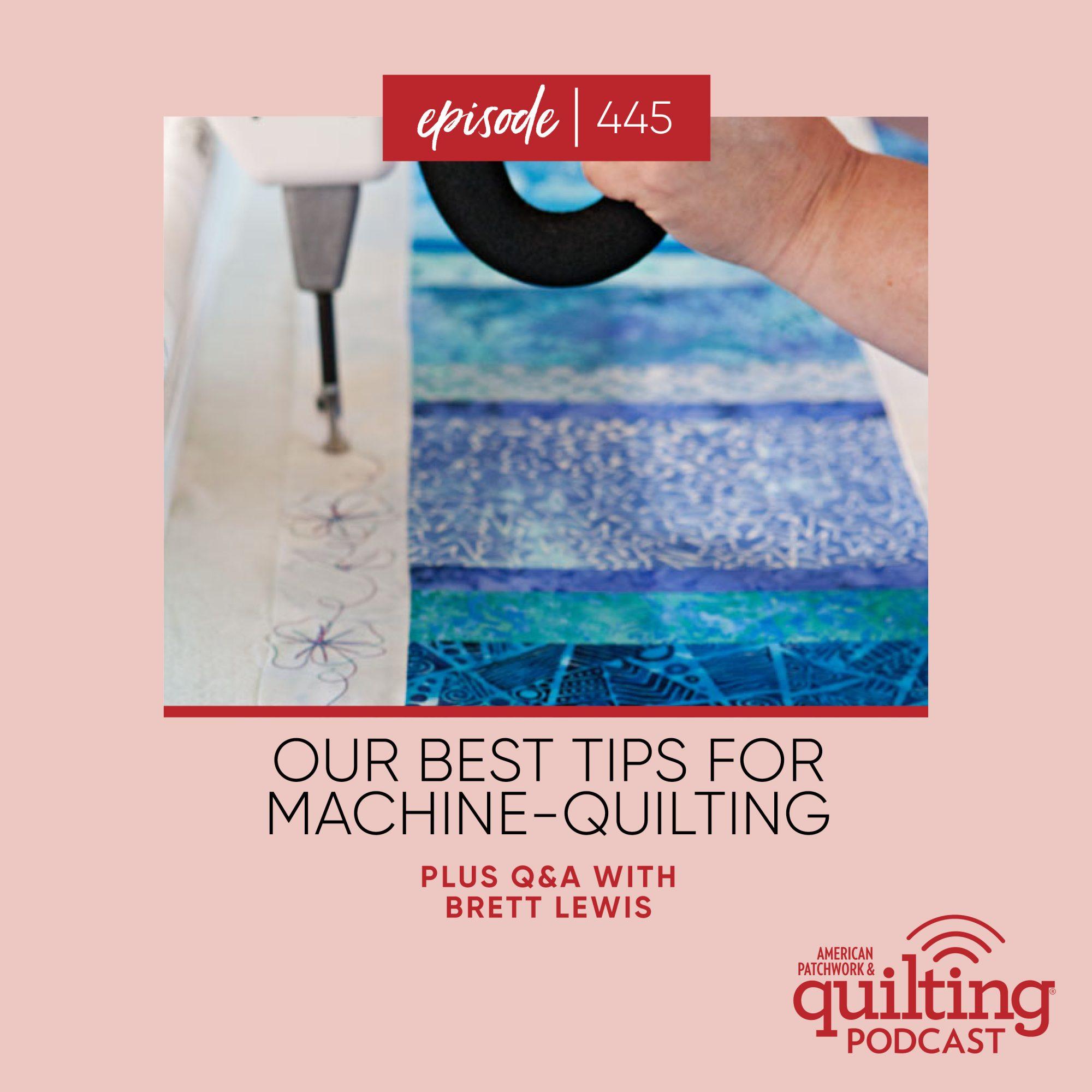 podcast machine quilting