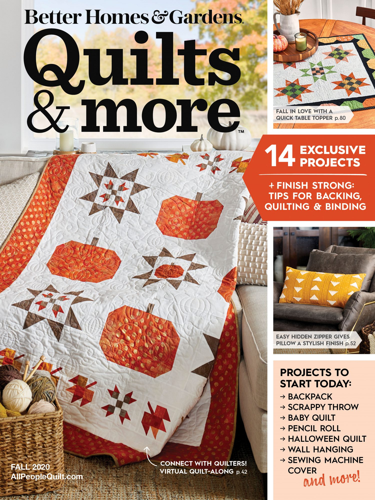 Halloween Quilts, Patterns 2020 Quilts & More Fall 2020   AllPeopleQuilt.com
