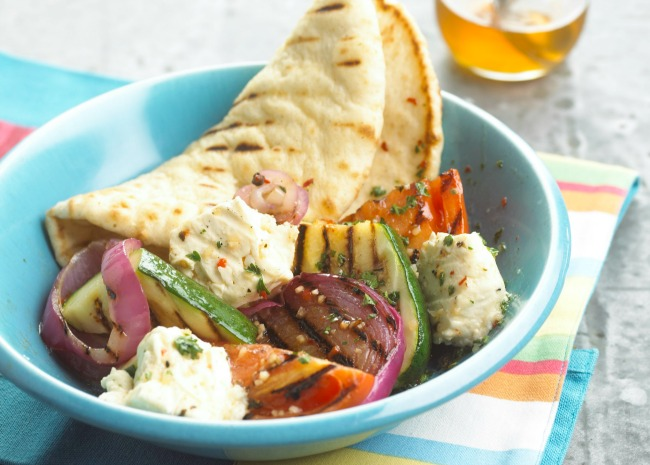Grilled Vegetables with Pita
