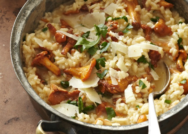 Risotto with Chanterelle Mushrooms