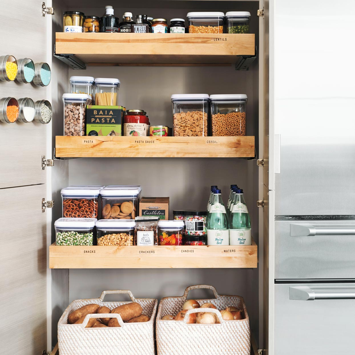 Three Simple Storage Ideas To Organize Your Pantry For Good Allrecipes