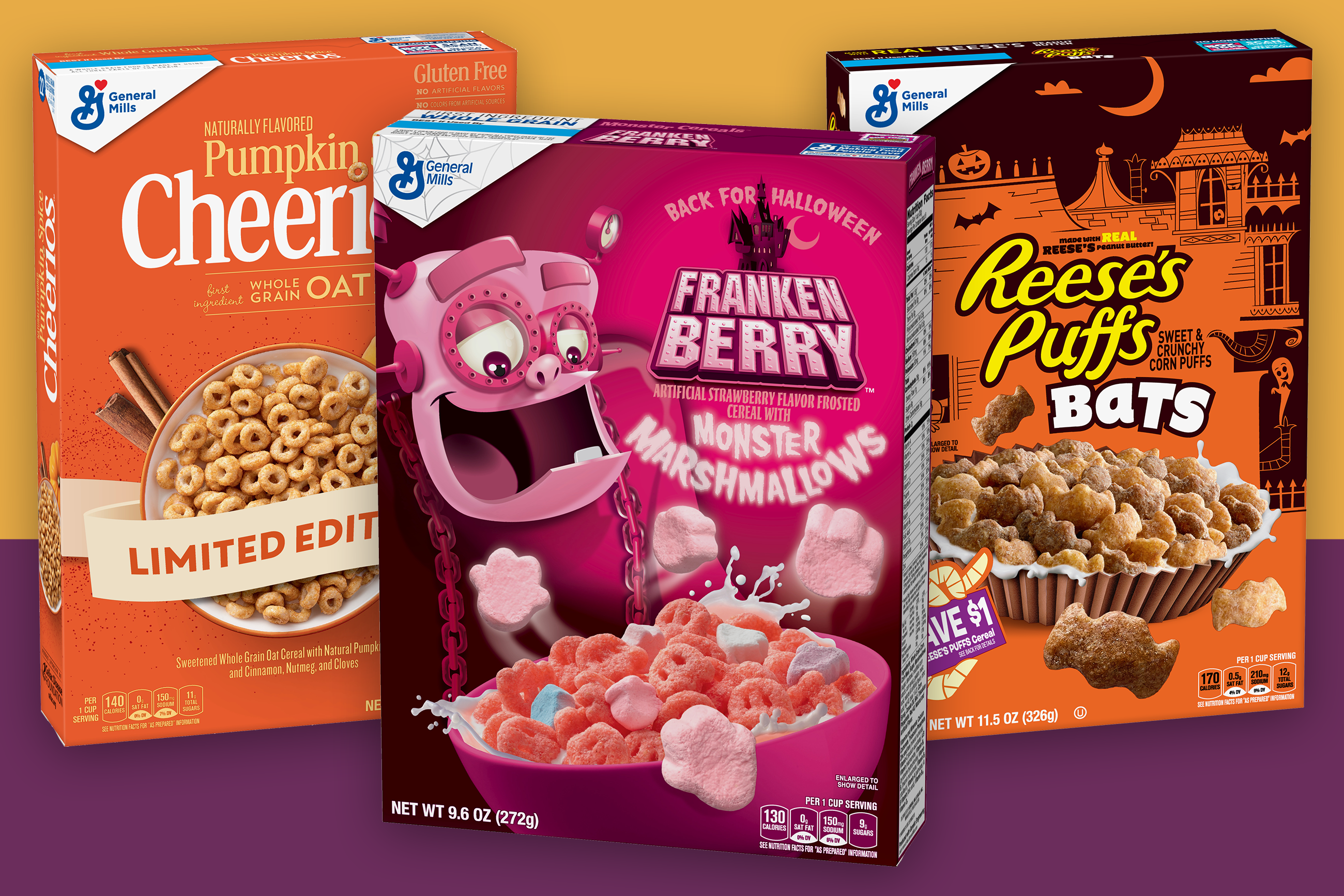 Halloween 2020 Extra Sandwich Reese's Puffs Bats and Monster Cereals Are Back to Make Breakfasts
