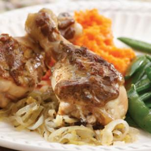 Baked Chicken with Onions & Leeks