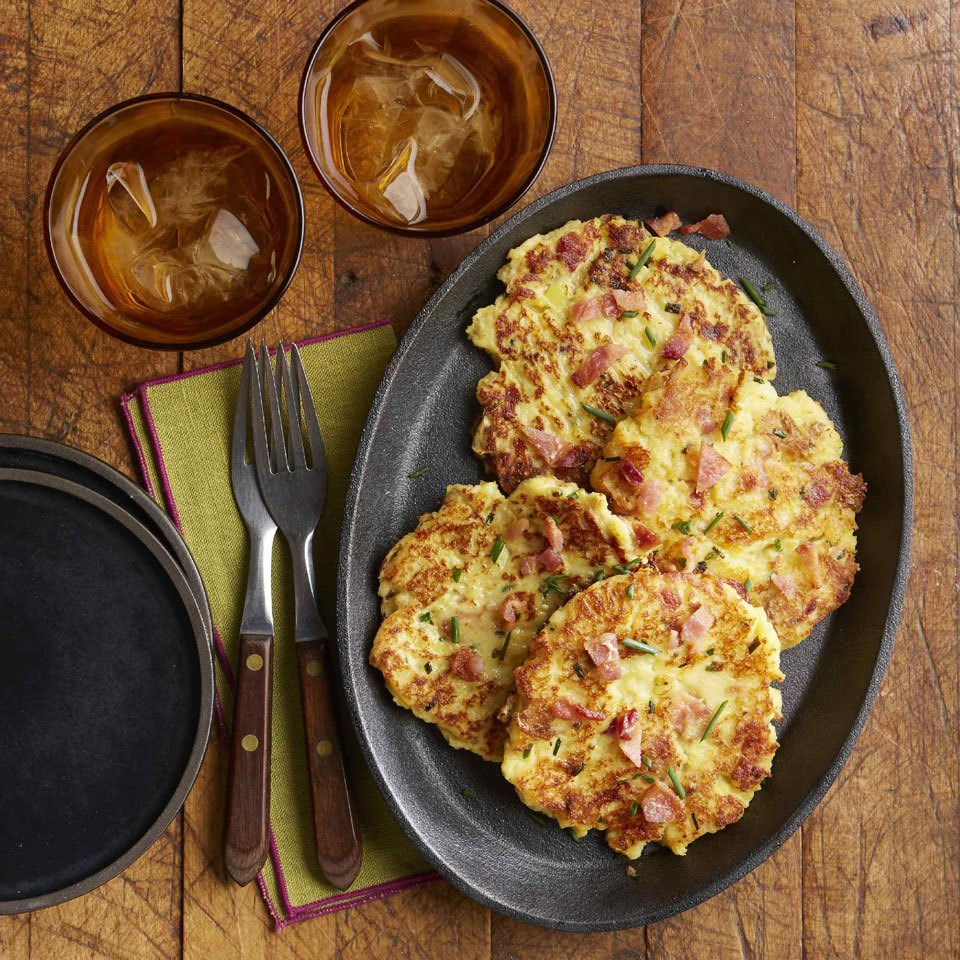 Loaded Mashed Potato Pancakes