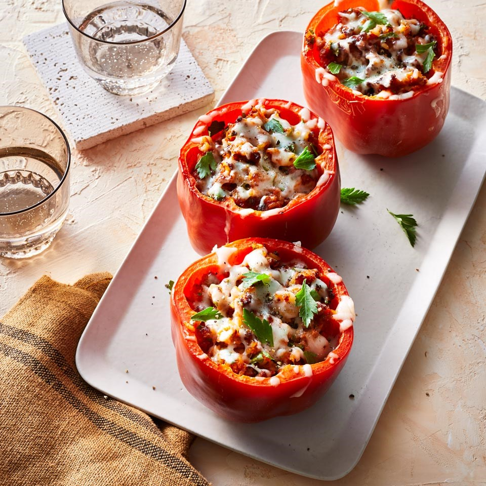 Air-Fryer Turkey Stuffed Peppers