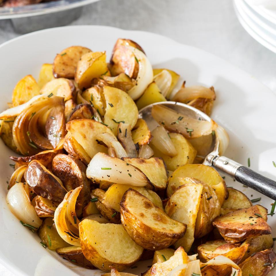 Rosemary Roasted Potatoes Sweet Onions Recipe Eatingwell