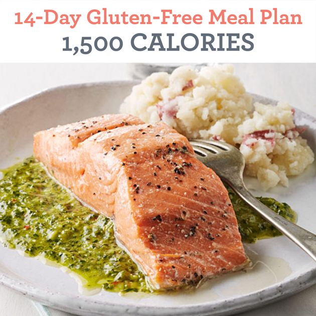 14-Day Gluten-Free Meal Plan: 1,500 Calories