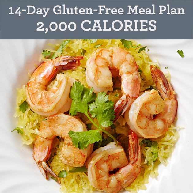 14-Day Gluten-Free Meal Plan: 2,000 Calories
