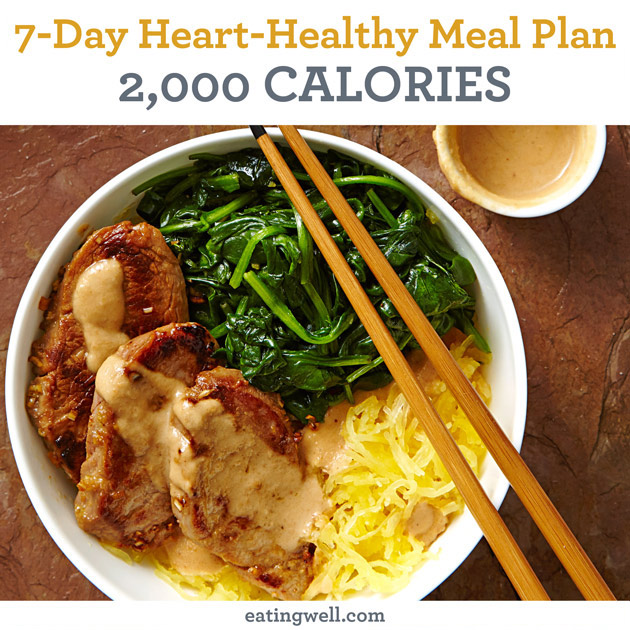 7-Day Heart-Healthy Meal Plan: 2,000 Calories