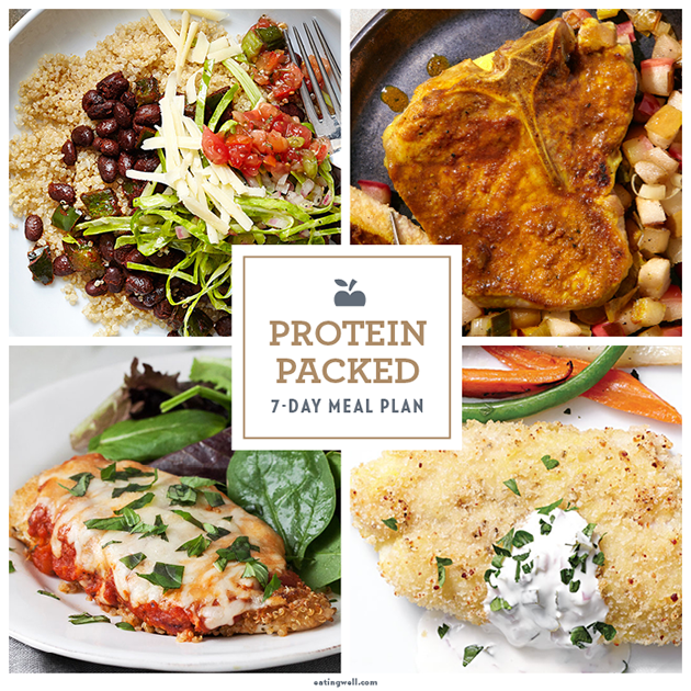 7 Day Meal Plan Protein Packed Dinners Eatingwell