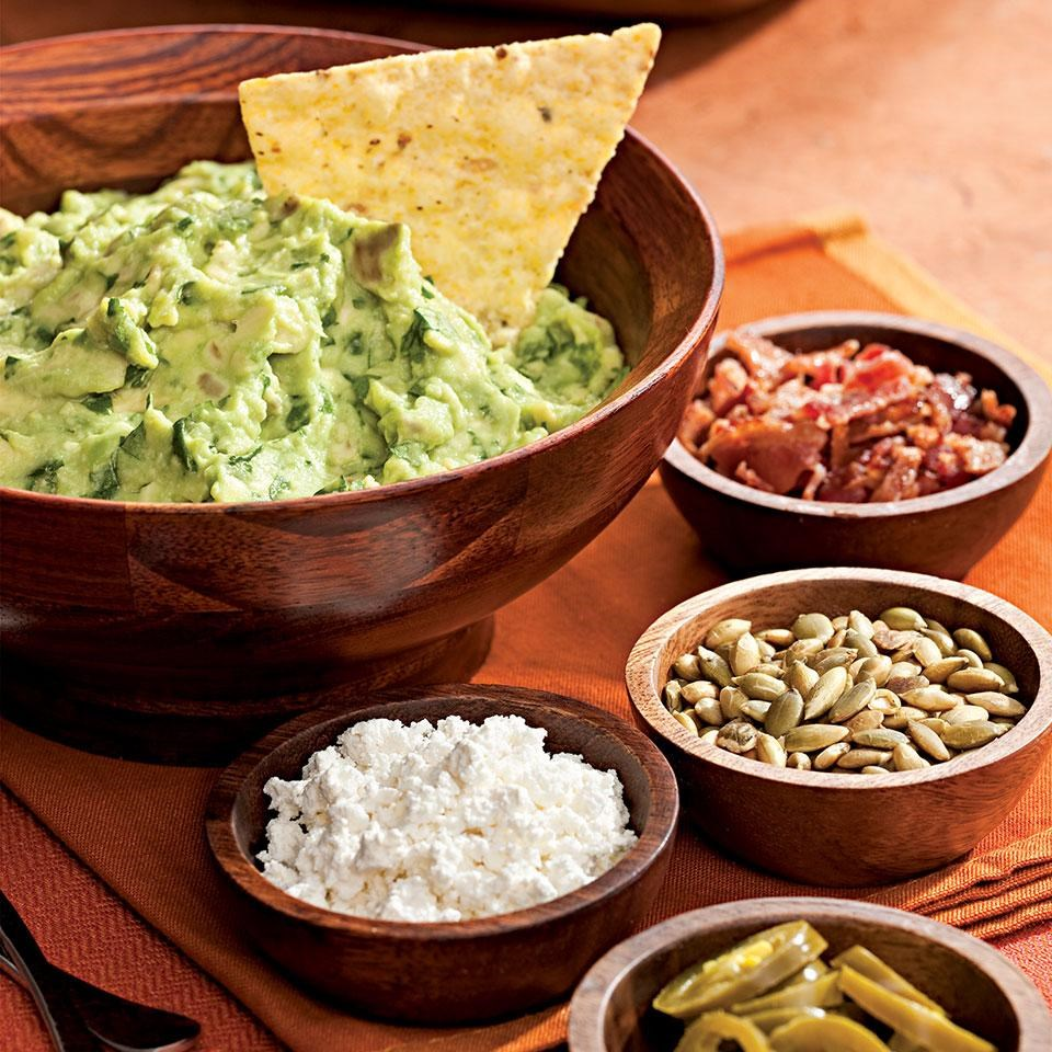 Roasted Garlic Guacamole with Help-Yourself Garnishes