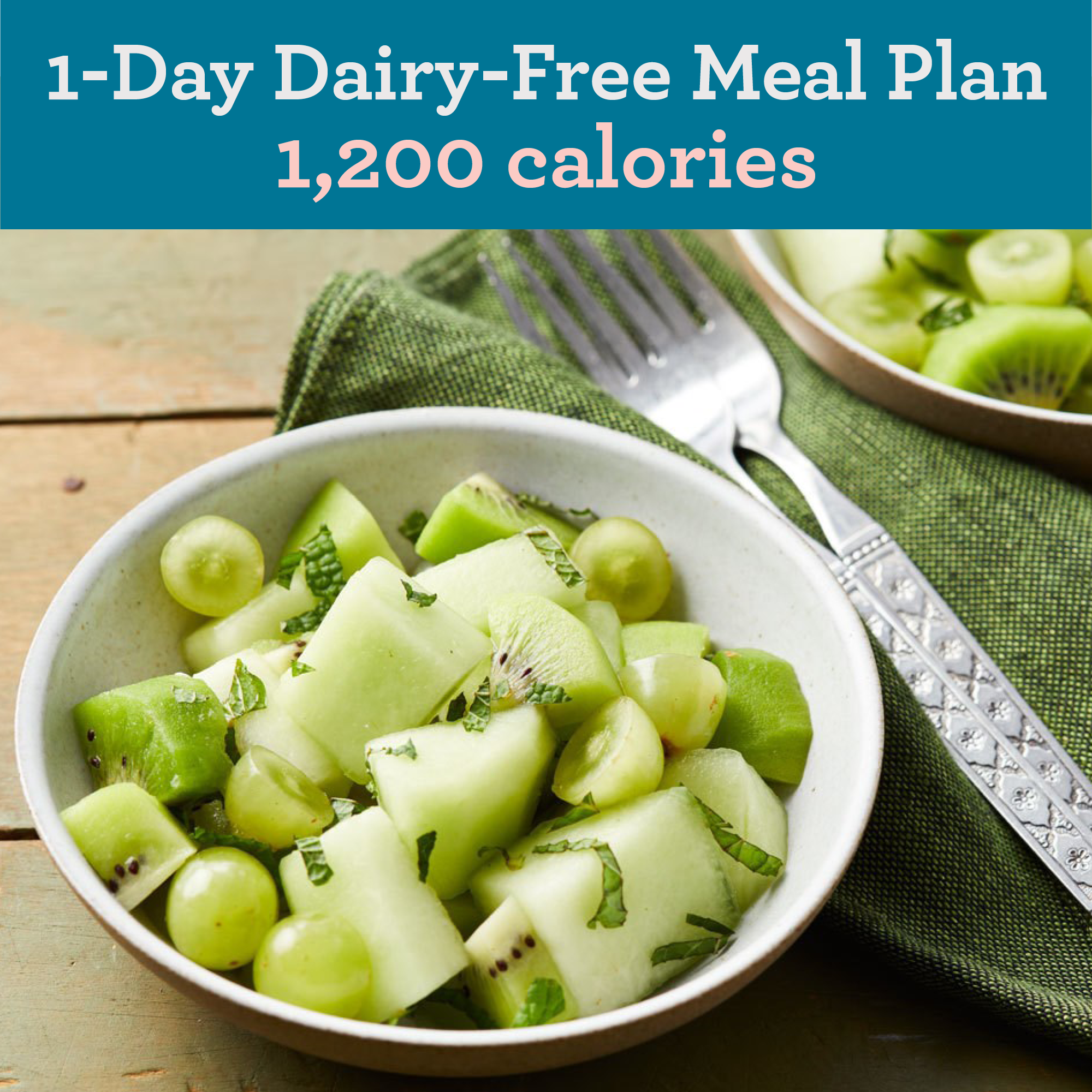 1-Day Dairy-Free Meal Plan: 1,200 Calories