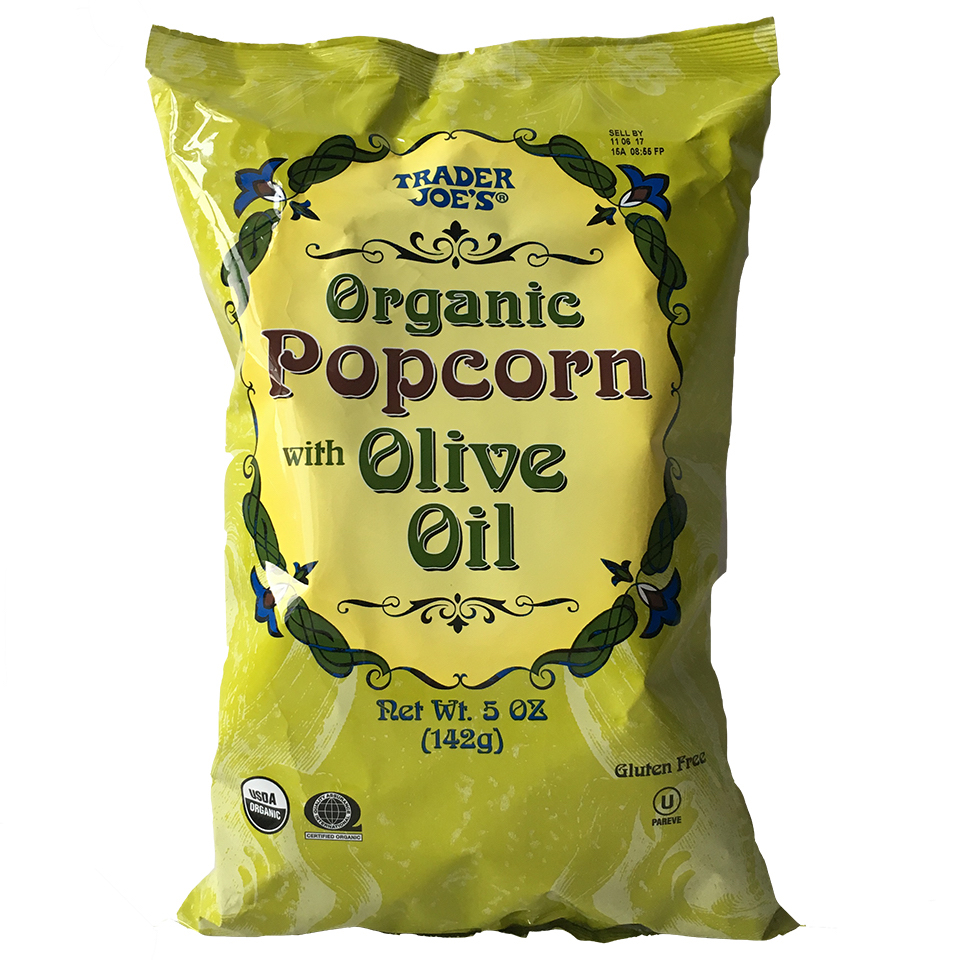 Organic Popcorn with Olive Oil