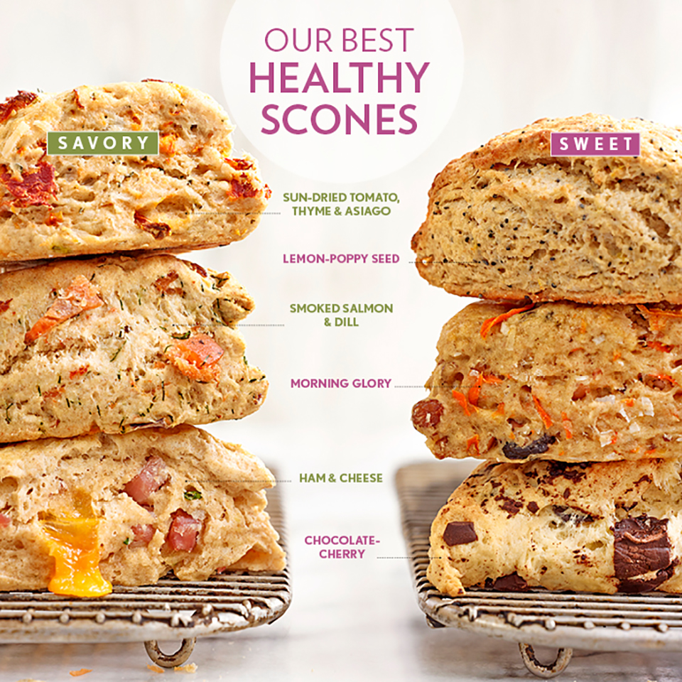 stack of sweet and savory scones