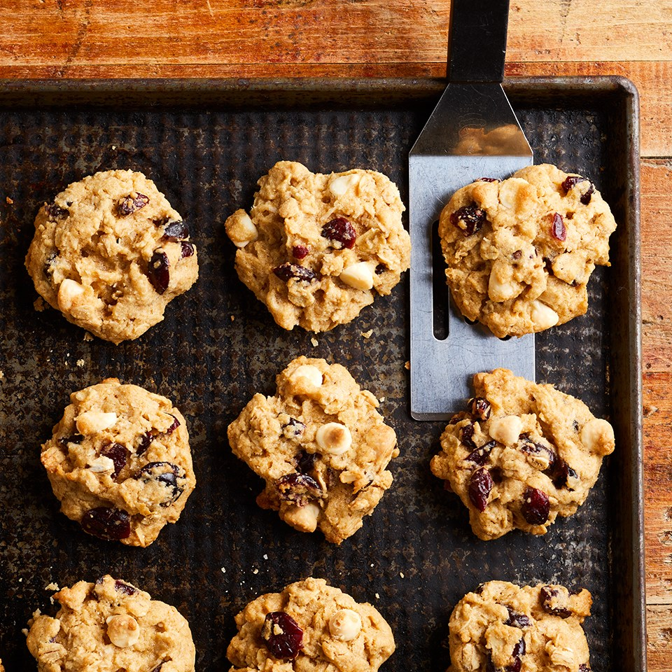 Oatmeal-Coconut Cookies with Cranberries & White Chocolate