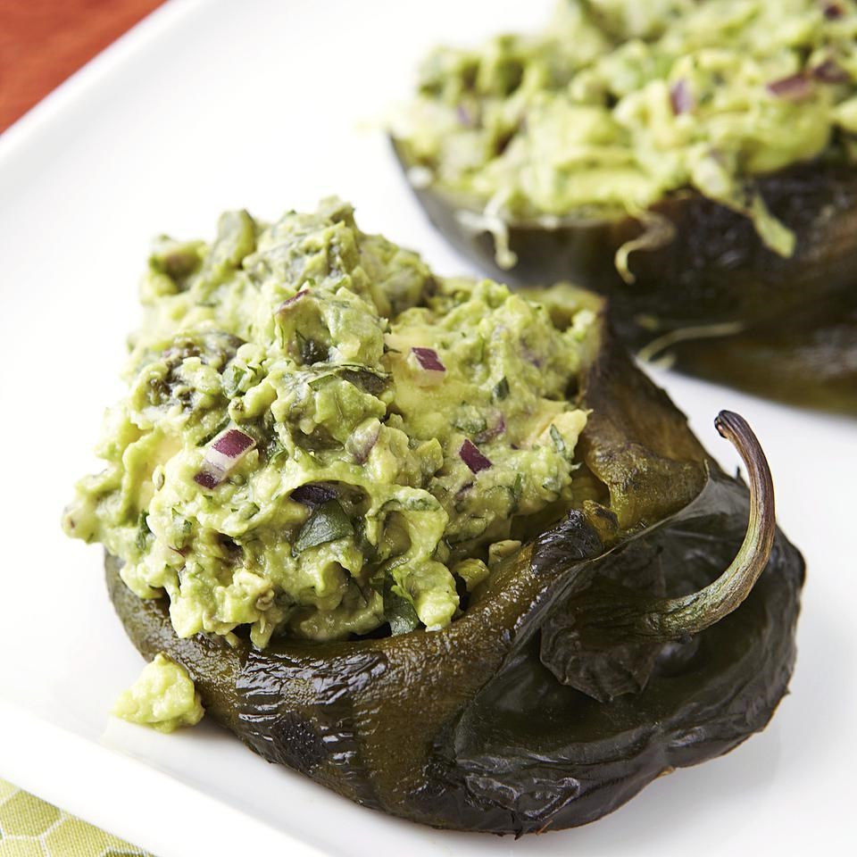 Guacamole-Stuffed Poblano Peppers