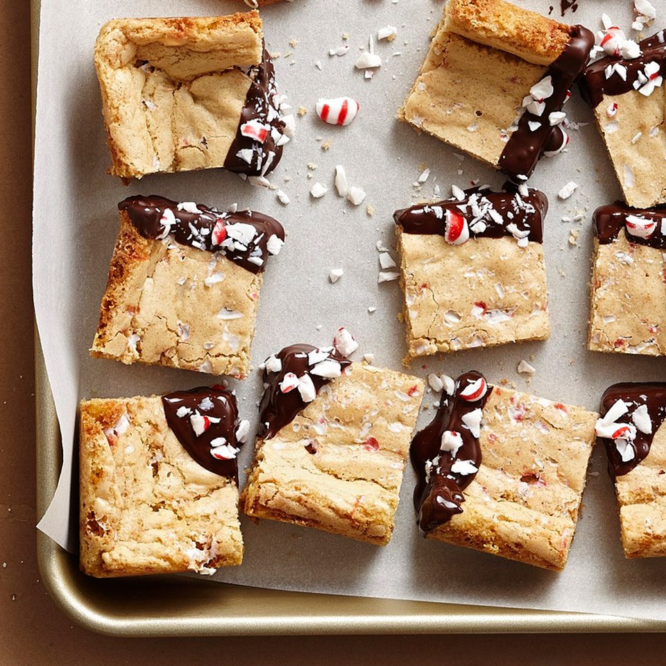 Vanilla Candy-Cane Peppermint Bars